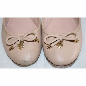 Kate Spade Dusty Pink Leather Ballerina Flats, 8